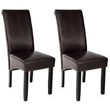 Lot de 2 chaises de salle à manger chaise meuble bruin 105cm bois