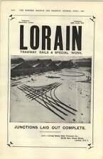 1927  Lorrain Tramway Rails Special Work Auto Tickets Birkenhead Ad