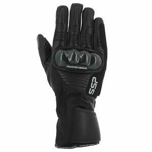 Vquattro Leather Motorcycle Gloves SSP 04 Black - Gants V Quattro - WATERPROOF