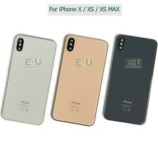 For Apple iPhone X / XS / XS MAX Housing Metal Frame Glass Back Chassis Cover