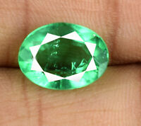 Muzo Colombian Emerald Gemstone Oval 5-6 Ct Natural Untreated AGI Certified
