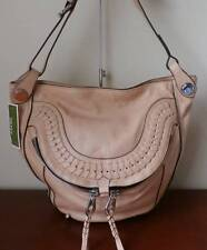 orYANY Italian Leather Medium Crossbody Bag - Linda~Almond