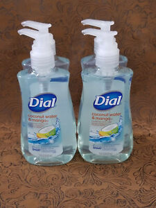 Lot Of 4 DIAL Hydrating Coconut Water And Mango Hand Soap 4 x 7.5 oz