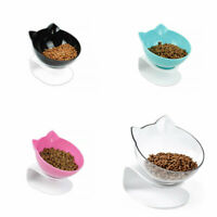 Cat Food Bowl With Stand White Elevated Pet Water Bowl Detachable Dish Bowl 1Pc