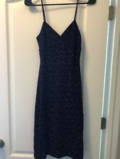 Black and Purple Knee length La belle dress