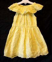 Girls George Yellow Broderie Anglaise Lace Sleeveless Gypsy Dress Age 2-3 Years