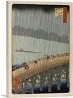Sudden Shower at Ohashi Bridge 1857 Canvas Art Print by Utagawa Hiroshige