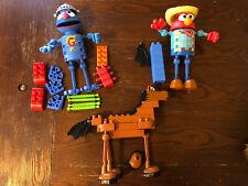 K'Nex Sesame Street Super Grover & Cowboy Elmo Building Play Sets Incomplete Toy