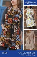 Chic Cowl Neck Shift Dress  INDYGO JUNCTION IJ908 TRENDY SEWING PATTERN