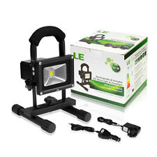 LE 10W LED Work Light Lantern Flood Light + Chargers + Car Charger Rechargeable