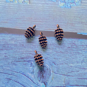 10pcs 12x7x7mm Pine Cone Charms Antique Copper Tone Making Jewelry
