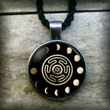 Whell of Hecate Goddess Symbol Pendant Necklace + Box - Witchcraft Wicca Triple
