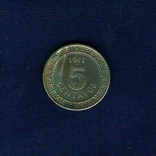 MEXICO ESTADOS UNIDOS  1911  5 CENTAVOS COIN, UNCIRCULATED AND TONED, ORIGINAL!!