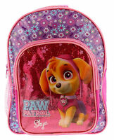 Paw Patrol Skye Pink Glitter Girls Backpack Kids School Travel Rucksack Bag 30cm