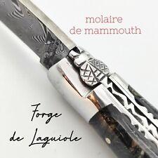 COUTEAU LAGUIOLE EN AUBRAC MOLAIRE MAMMOUTH LAME DAMAS BALBACH FRANCE