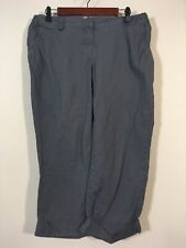 Liz Lange Maternity Pants Size 8 Gray Crop Chino Slacks
