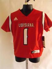 NEW-TAGS University of Louisiana Lafayette TODDLERS 4T Red ADIDAS JERSEY 33HQ