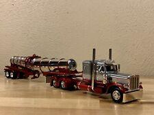 Dcp 1/64 Peterbilt 359 Chrome Polar Tanker Semi Tractor Trailer Truck Farm Toy