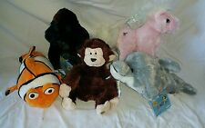 NWT Webkinz Retired Pink Pegasus, Clown Fish, Dolphin, Gorilla, Monkey  W15