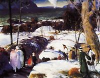 Easter Snow by Americanist George Bellows. Fine Art  11x14 Print