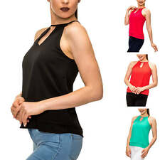 Only Damen Top Blusentop Bluse Ohne Arm T-Shirt Shirt Party Chic Color Mix %