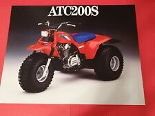 1986 Honda ATC200 S - Three Wheeler Sales Brochure - Literature