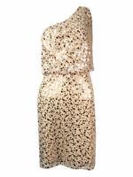 JS Boutique Women's Sequined Blouson One Shoulder Dress