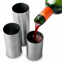 Stainless Steel Thimble Wine Measures Jigger 125/175/250ml | 3 Bar Measure Set