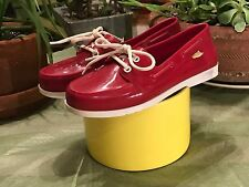 Womens MELISSA Red Rubber Deck shoe  Sz. 7 US 38 EU Brazil made