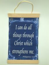 Philippians 4:13, I Can Do All Things...,Canvas Wall Print, 8x12