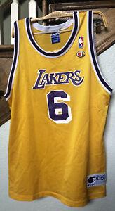 Lakers Champion Eddie Jones #6 Vintage Jersey Size XL 18-20