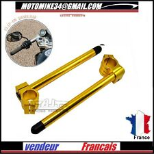 PAIRE DEMI GUIDON 48 mm OR CNC Billet 48 mm Clip On Handlebars Racing GOLD