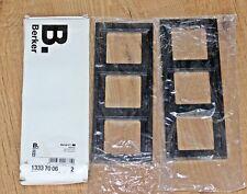 Berker Rahmen 3 x fach senkrecht 13337006 Matt Anthrazit 2 Stück in Verpackung