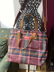 Cath Kidston  tartan check print Messenger bag With Detachable Bag Inside Rare