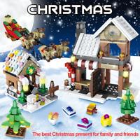Lego 741Pcs Winter Village Christmas Tree Snow man Building Blocks