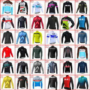 Mens Cycling Jersey Long Sleeve Racing Tops Bicycle Shirt 2021 Team Bike Uniform