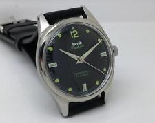 VINTAGE HMT PILOT PARASHOCK 17 JEWELS MANUAL BLACK DIAL MEN INDIA WRIST WATCH