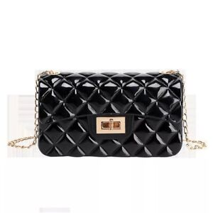 Mini Black Jelly Crossbody Bag
