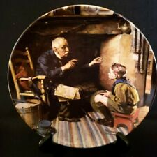 """Norman Rockwell Collector Plate """"The Veteran"""" #10540H, Knowles China"""