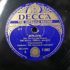 78rpm MALCOLM SARGENT - ROYAL CHORAL SOCIETY bethlehem / while shepherds watched