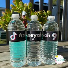 Bottle Water Labels. Birthday party supplies. Customized stationery. Any charact