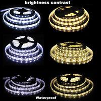 5M SMD RGB 3528/5050/5630 60LED/M 300LEDs Cool/Warm White Strip Light Waterproof