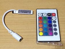 7PCS Mini 24 KEY 12V 12A IR Remote Controller 3528 5050 RGB SMD LED Strips