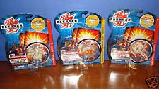 Bakugan Pearl White & Clear Lot 3 TIGRERRA, STINGLASH