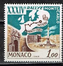 Monaco Auto Rally Monte Carlo - Minsk Map Architecture stamp 1965 MNH