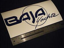 "Baja Motor Yachts 290/340 Cruiser Large Blue Decal 12"" Sticker"