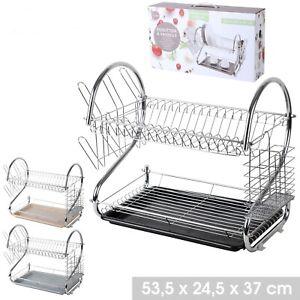 GRIS égouttoir séchoir vaisselle decoration cuisine rangement INOX rangement 293