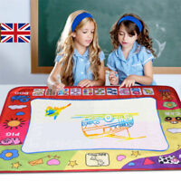 Large Kids Water Painting Aqua Doodle Drawing Mat Write Board + Magic Pen Xmas