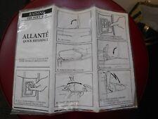 1991 Cadillac Allante Supplemental Soft Top Operator Owner Manual Original