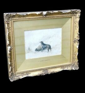Thomas Sidney Cooper, Signed And Dated Watercolour In Original Frame.